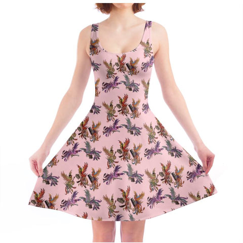Rose KPH Multi Ladies Skater Dress