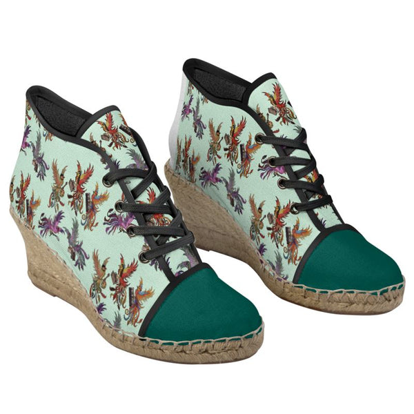 Mint/Teal KPH Ladies Wedge Shoes