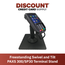 Load image into Gallery viewer, DCCS Freestanding Swivel and Tilt Pax S300 & SP30 Terminal Stand