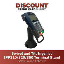 Load image into Gallery viewer, DCCS Swivel and Tilt Stand Ingenico IPP310/320/350 Terminal Stand, Screw-in and Adhesive