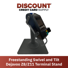 Load image into Gallery viewer, DCCS Freestanding Swivel and Tilt Dejavoo Z8/Z11 Terminal Stand (Black)