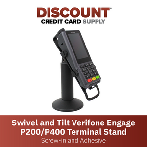 DCCS Swivel and Tilt Verifone Engage P200 & P400 PIN Pad Stand, Screw-in and Adhesive