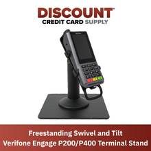 Load image into Gallery viewer, DCCS Freestanding Swivel and Tilt Verifone Engage P200 & P400 PIN Pad Stand