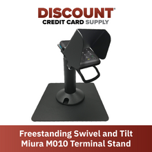Load image into Gallery viewer, DCCS Freestanding Swivel and Tilt Miura M010 PIN Pad Stand with PIN Shield