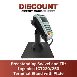 DCCS Freestanding Swivel and Tilt Ingenico ICT220/250 Terminal Stand with Square Plate
