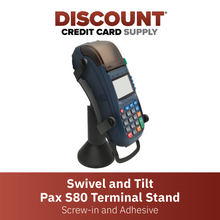 Load image into Gallery viewer, DCCS Swivel and Tilt Stand Pax S80 Terminal Stand, Screw-in and Adhesive