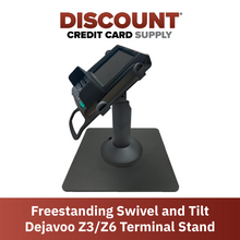 Load image into Gallery viewer, DCCS Freestanding Swivel and Tilt Dejavoo Z3/Z6 Terminal Stand (Black)
