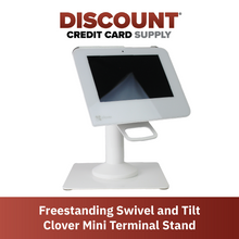 Load image into Gallery viewer, DCCS Freestanding Swivel and Tilt Clover Mini Terminal Stand with Square Plate
