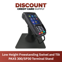 Load image into Gallery viewer, DCCS Low Freestanding Swivel and Tilt Pax S300 & SP30 Terminal Stand