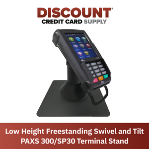 DCCS Low Freestanding Swivel and Tilt Pax S300 & SP30 Terminal Stand