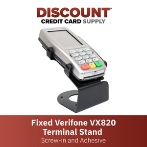 DCCS Fixed Verifone Vx820 Terminal Stand - Screw-in and Adhesive