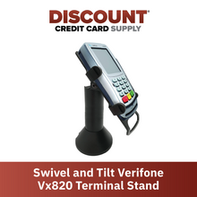 Load image into Gallery viewer, DCCS Swivel and Tilt Verifone Vx820 Terminal Stand, Screw-in and Adhesive