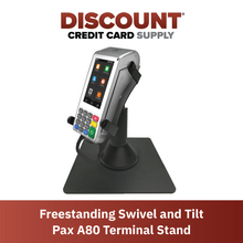 Load image into Gallery viewer, DCCS Freestanding Swivel and Tilt Pax A80 Terminal Stand