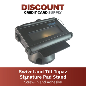 DCCS Low Swivel and Tilt Topaz Signature Pad Stand, Screw-in and Adhesive