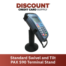 Load image into Gallery viewer, DCCS Standard Swivel and Tilt PAX S90 Terminal Stand, Screw-in and Adhesive
