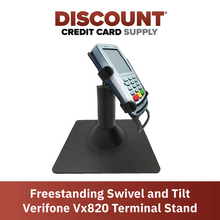 Load image into Gallery viewer, DCCS Freestanding Swivel and Tilt Verifone Vx820 Terminal Stand