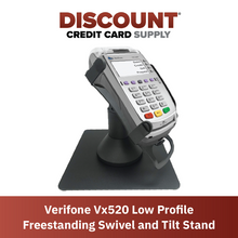 Load image into Gallery viewer, DCCS Freestanding Low Swivel and Tilt Verifone Vx520 Terminal Stand