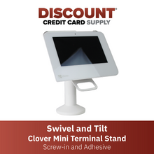Load image into Gallery viewer, DCCS Swivel and Tilt Clover Mini Terminal Stand, Screw-in and Adhesive