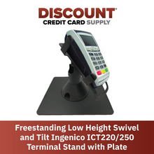 Load image into Gallery viewer, DCCS Freestanding Low Height Swivel and Tilt Ingenico ICT220/250 Terminal Stand