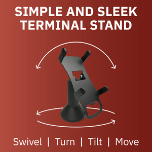 DCCS Swivel and Tilt Stand Pax S80 Terminal Stand, Screw-in and Adhesive