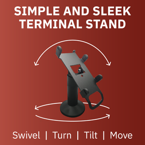 DCCS Swivel and Tilt Pax S300 & SP30 Terminal Stand, Screw-in and Adhesive