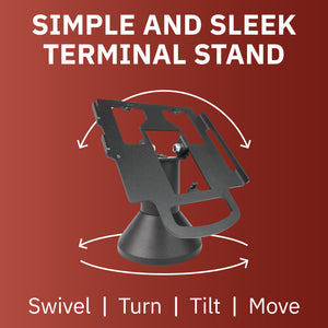 DCCS Low Profile Swivel and Tilt Pax Px5 Terminal Stand, Screw-in and Adhesive
