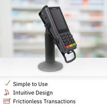 Load image into Gallery viewer, DCCS Swivel and Tilt Verifone Engage P200 & P400 PIN Pad Stand, Screw-in and Adhesive