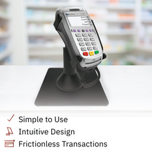 Load image into Gallery viewer, DCCS Freestanding Swivel and Tilt Verifone Vx520 Terminal Stand