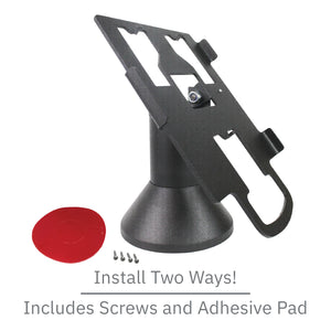 DCCS Low Profile Swivel and Tilt Pax Px7 Terminal Stand, Screw-in and Adhesive