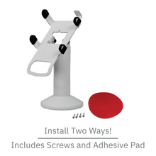 Load image into Gallery viewer, DCCS Swivel and Tilt Dejavoo Z3/Z6 Terminal Stand, Screw-in and Adhesive (White)