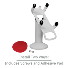 Load image into Gallery viewer, DCCS Swivel and Tilt Dejavoo Z8/Z11 Terminal Stand, Screw-in and Adhesive (White)