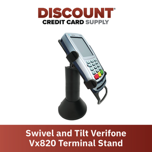 DCCS Freestanding Swivel and Tilt Vx820 Terminal Stand with Round Plate