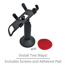 Load image into Gallery viewer, DCCS Swivel and Tilt Castles VEGA3000 Touch PIN Pad Stand, Screw-in and Adhesive (Black)