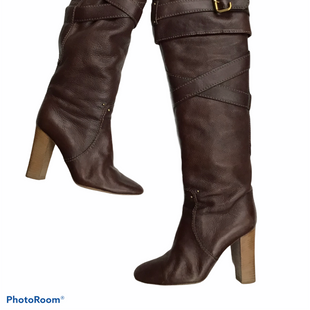 Primary Photo - BRAND: CHLOE STYLE: BOOTS DESIGNER COLOR: BROWN SIZE: 10 OTHER INFO: PRINCE KNEE HIGH BOOTS-- AS IS SEE PICSSKU: 111-111247-63599