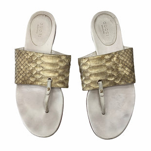 Primary Photo - BRAND: GUCCI STYLE: SANDALS FLAT COLOR: GOLD SIZE: 8 SKU: 111-111279-6935