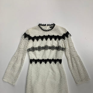 Primary Photo - BRAND: TOPSHOP STYLE: DRESS SHORT LONG SLEEVE COLOR: WHITE BLACK SIZE: 6 SKU: 111-111292-14680