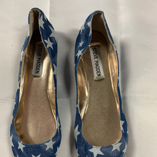 Primary Photo - BRAND: STEVE MADDEN STYLE: SHOES FLATS COLOR: BLUE WHITE SIZE: 6.5 SKU: 111-111301-1958