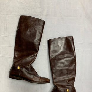 Primary Photo - BRAND: SALVATORE FERRAGAMO STYLE: BOOTS KNEE COLOR: BROWN SIZE: 5.5 SKU: 111-111301-2745