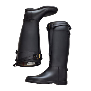 Primary Photo - BRAND: BURBERRY STYLE: BOOTS RAIN COLOR: BLACK SIZE: 9 OTHER INFO: ROCOT BELTED SKU: 111-111320-4939