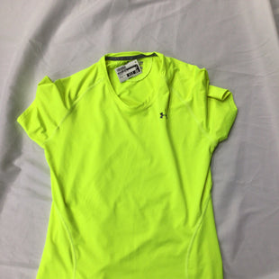Primary Photo - BRAND: UNDER ARMOUR STYLE: ATHLETIC TOP SHORT SLEEVE COLOR: YELLOW SIZE: S SKU: 111-111292-18620