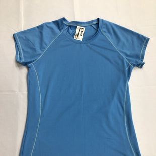 Primary Photo - BRAND: ALO STYLE: ATHLETIC TOP SHORT SLEEVE COLOR: BLUE SIZE: M SKU: 111-111279-4501