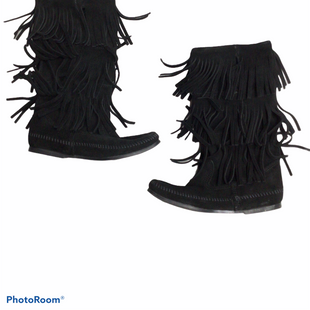 Primary Photo - BRAND: MINNETONKA STYLE: BOOTS KNEE COLOR: BLACK SIZE: 7 SKU: 111-111247-55136