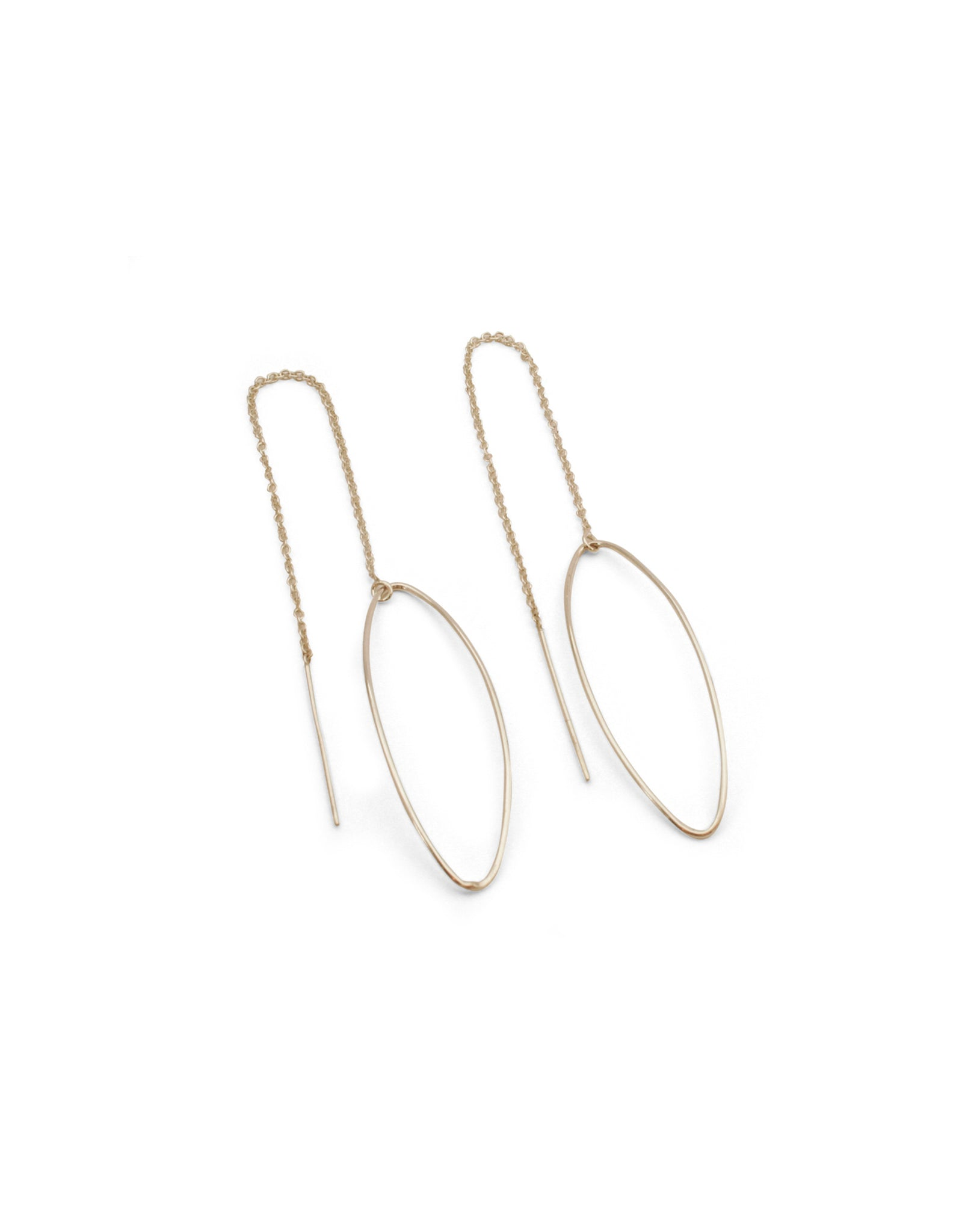 AMANDE CHAIN EARRINGS SILVER