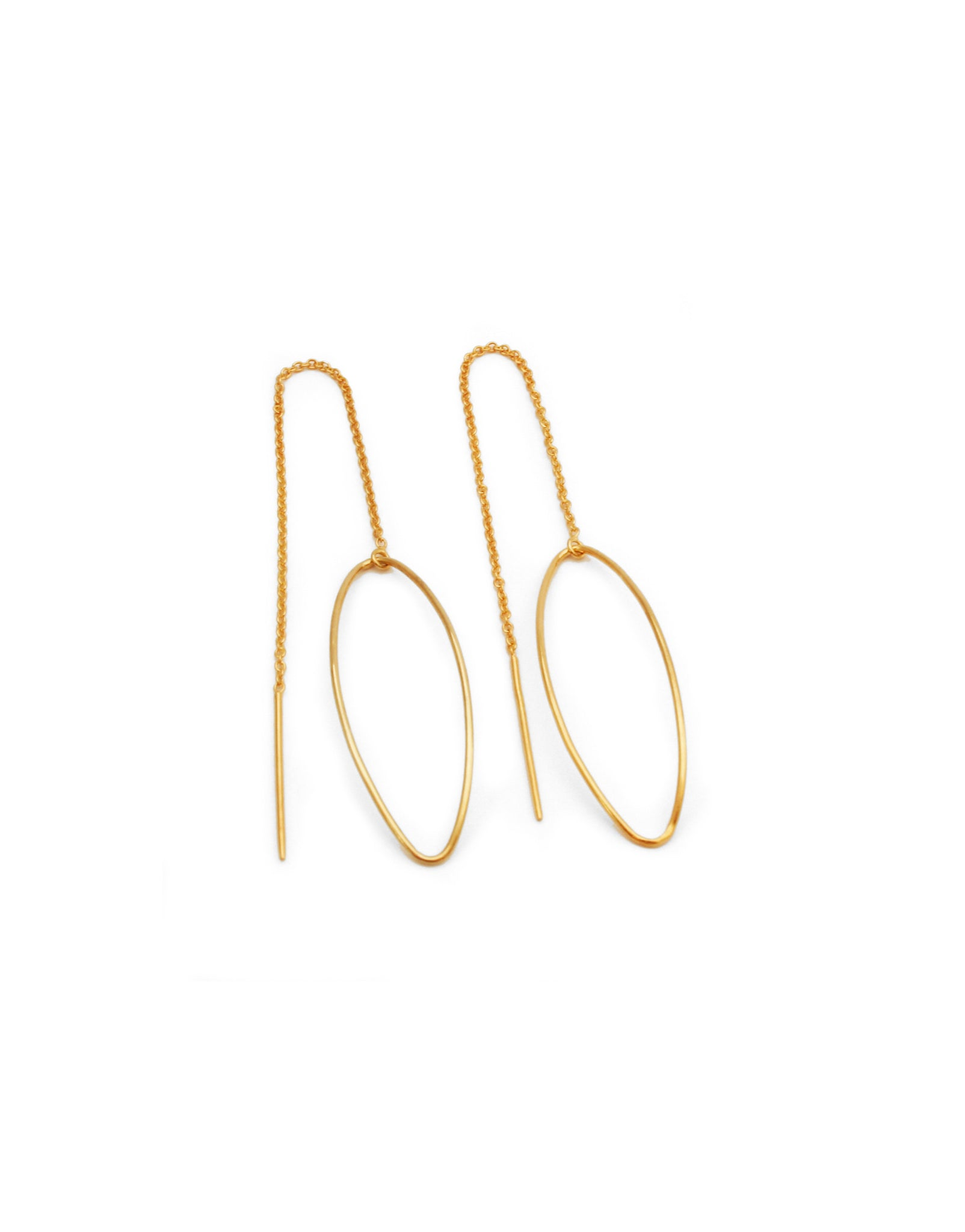 AMANDE CHAIN EARRINGS GOLD-PLATED