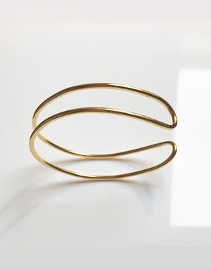 BRACELET DOUBLE C GOLD-PLATED