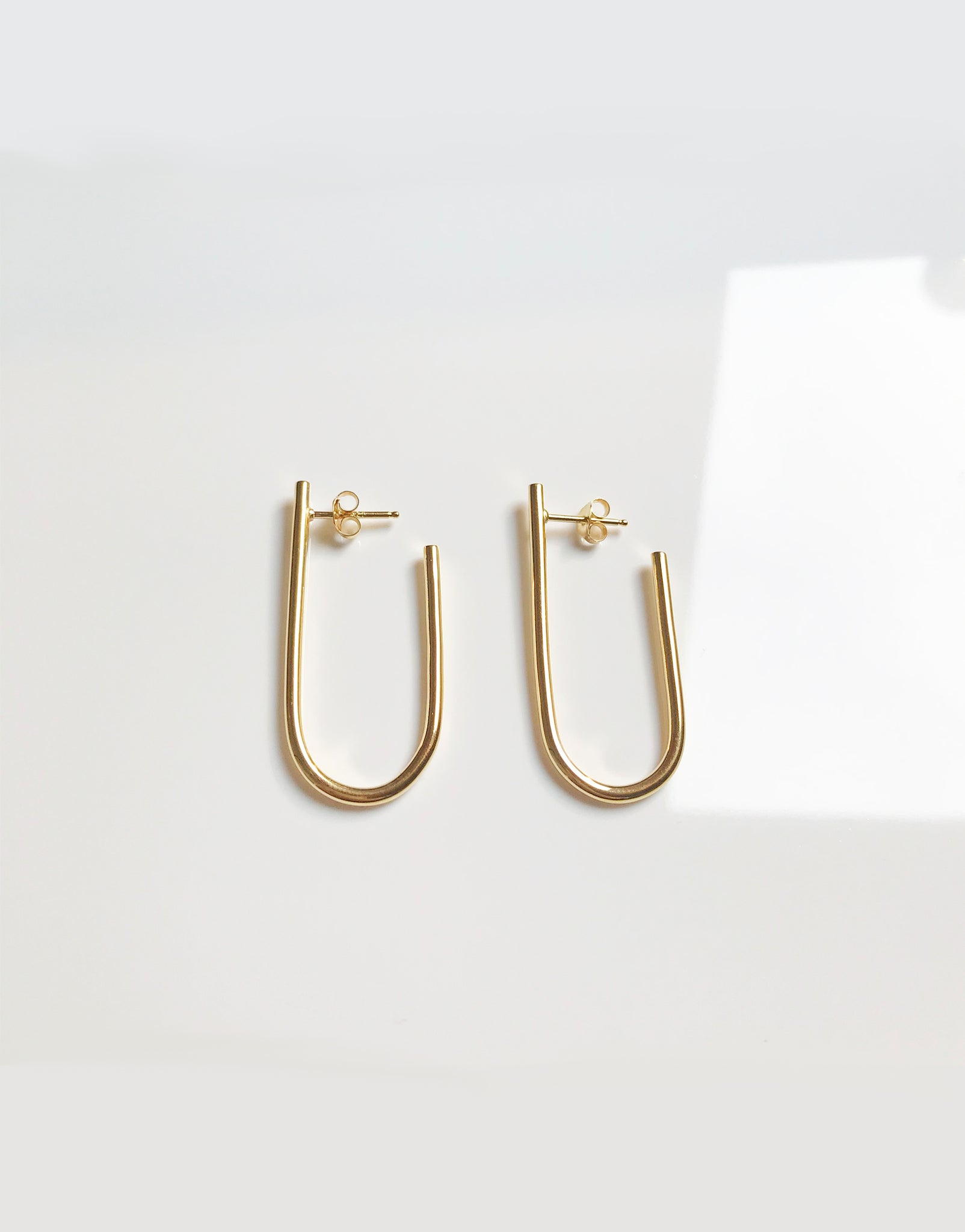EARRINGS DOUBLE C GOLD-PLATED