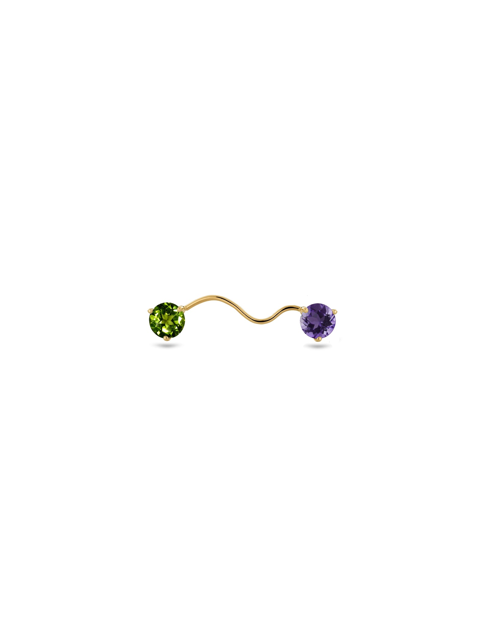 ELOISE EARRING AMETHYST AND PERIDOT