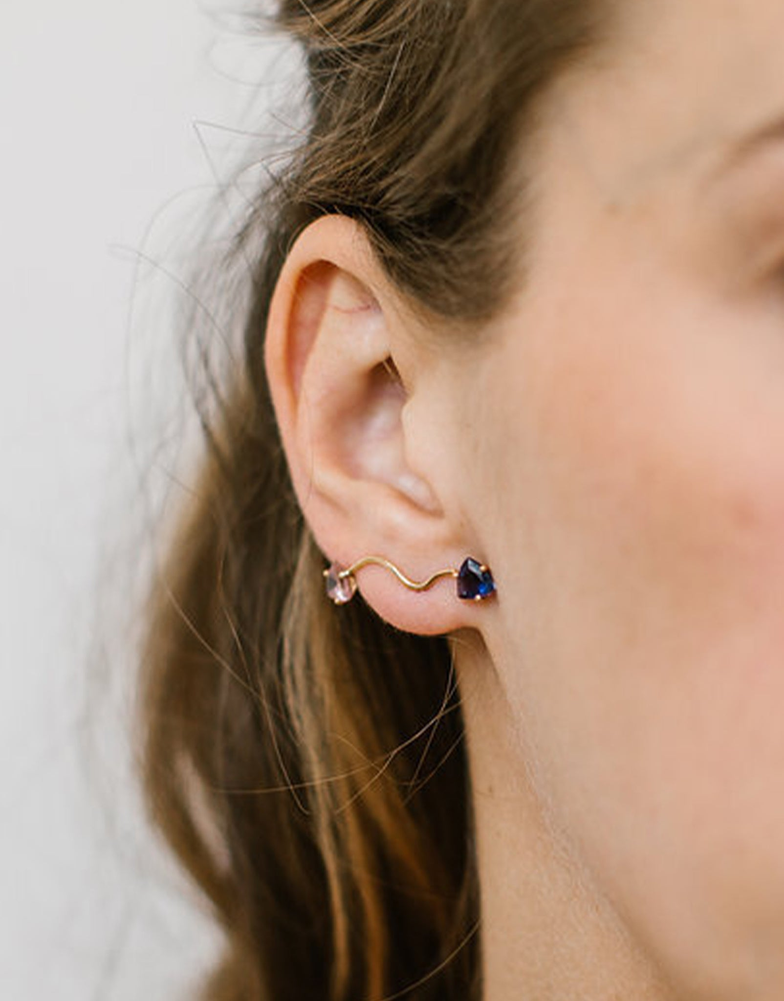 EARRING ELOISE TOURMALINE AND IOLITE