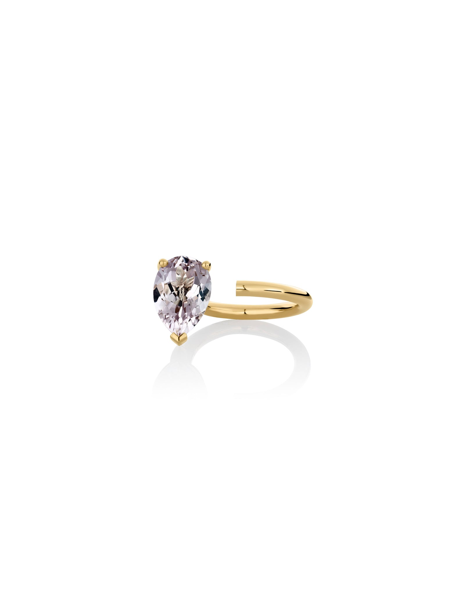 Ring 9K gold amethyst - Bloom ring amethyst - Nayestones