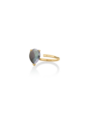 Ring 9K gold labradorite - Personalized bloom ring - Nayestones